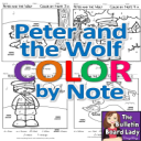 Peter and the Wolf Color by Note | Other Files | Everything Else