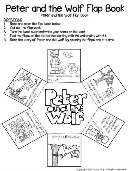 First Additional product image for - Peter and the Wolf Cut and Tell