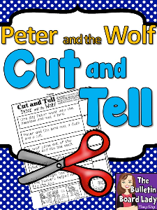 peter and the wolf cut and tell