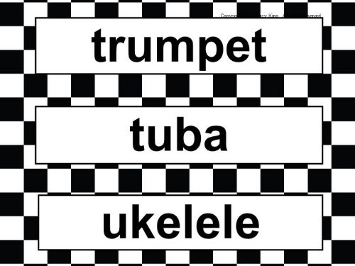 First Additional product image for - Word Wall -Black and White Checkered