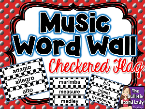 word wall -black and white checkered