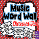 Word Wall -Black and White Checkered | Other Files | Everything Else