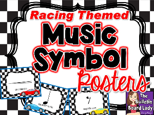 music symbol posters-racing theme