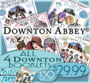 Downton Abbey Authentic Pattern e-Booklet BUNDLE | Crafting | Sewing | Apparel