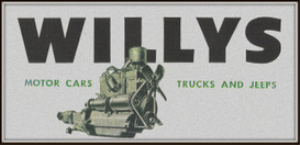 willys-overland motors magazine ads package