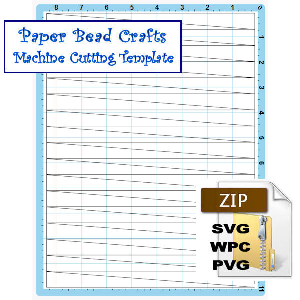 Paper Bead Machine Cutting Template to Make 5/8 x 00 x 8-1/2 Strips for Cone Beads | Crafting | Paper Crafting | Other