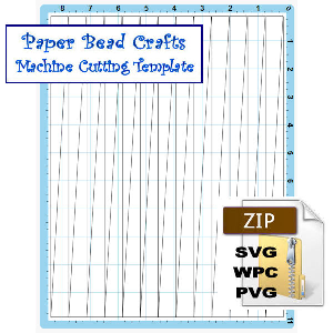 paper bead machine cutting template, 5/8