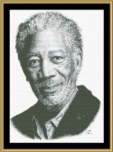 Morgan Freeman | Crafting | Cross-Stitch | Wall Hangings