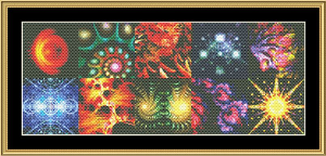 Fractal Montage | Crafting | Cross-Stitch | Wall Hangings