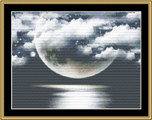 Fantasy Moon | Crafting | Cross-Stitch | Wall Hangings