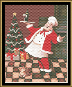 Christmas Chef | Crafting | Cross-Stitch | Other