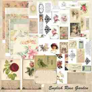 english garden mini book printable