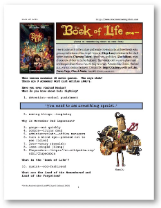 THE BOOK OF LIFE, Whole-Movie English (ESL) Lesson | eBooks | Education