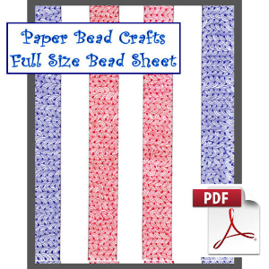 red white and blue stripes paper bead sheet