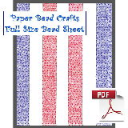 Red White and Blue Stripes Paper Bead Sheet | Crafting | Paper Crafting | Other