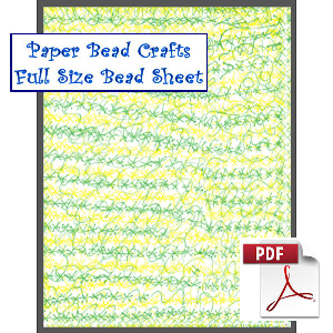 Spring Chaos Printable Paper Bead Sheet | Crafting | Paper Crafting | Other