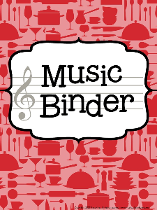 Music Teacher Binder - Cooking Theme | Other Files | Everything Else