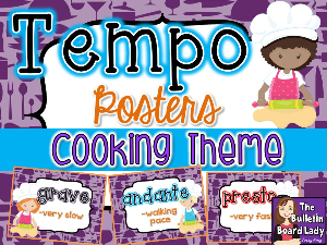 Tempo Posters - Cooking Theme | Other Files | Everything Else