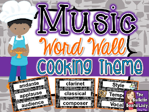 Music Word Wall - Cooking Theme | Other Files | Everything Else