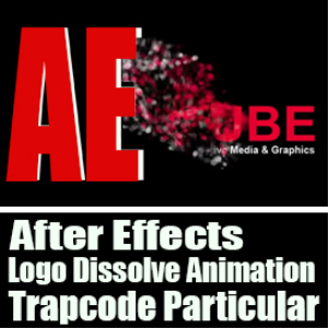 after effects logo dissolve animation using trapcode particular