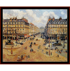 Avenue de L'Opera - Pissarro cross stitch pattern by Cross Stitch Collectibles | Crafting | Cross-Stitch | Wall Hangings
