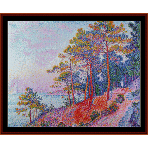 Above Saint-Tropez - Signac cross stitch pattern by Cross Stitch Collectibles | Crafting | Cross-Stitch | Wall Hangings