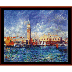 doges palace - venice - renoir cross stitch pattern by cross stitch collectibles
