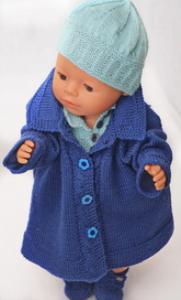 DollKnittingPatterns 0131D HERMELINE - Kåpe, Genser, Skjørt, Truse, Sko og Hårbånd-(Norsk) | Crafting | Knitting | Other