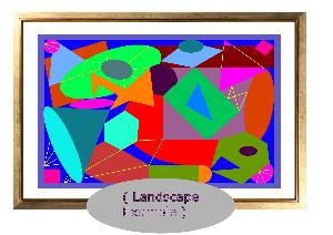 geometric scaled vector graphic art