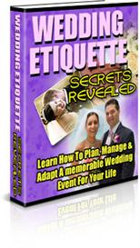 wedding etiquette secrets revealed -learn how to plan - manage and adapt