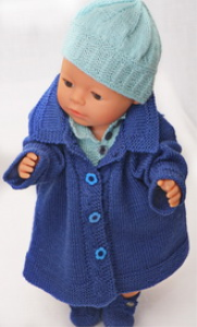 DollKnittingPattern 131D HERMELINE  Rokje, broek, trui, jas, muts, en schoentjes-(Nederlands) | Crafting | Knitting | Baby and Child