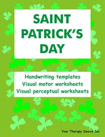 St Patricks Day Handwriting Activities | eBooks | Education