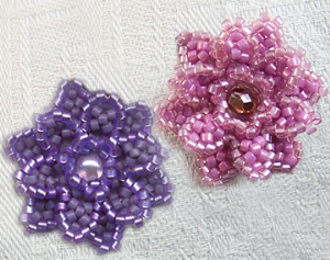 beaded flower pattern