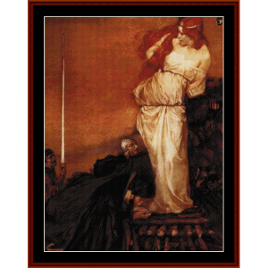 Guinevere Rescued by Lancelot - Burne-Jones cross stitch pattern by Cross Stitch Collectibles | Crafting | Cross-Stitch | Wall Hangings