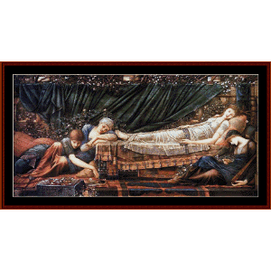The Sleeping Beauty - Burne-Jones cross stitch pattern by Cross Stitch Collectibles | Crafting | Cross-Stitch | Wall Hangings