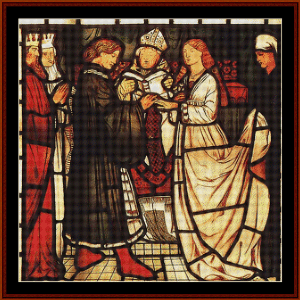 Wedding of Sir Tristam - Burne-Jones cross stitch pattern by Cross Stitch Collectibles | Crafting | Cross-Stitch | Wall Hangings