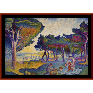 By the Mediterranean - Signac cross stitch pattern by Cross Stitch Collectibles | Crafting | Cross-Stitch | Wall Hangings