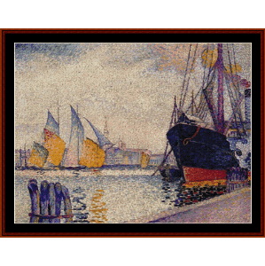 Canal de la Guidecca, Venice - Signac cross stitch pattern by Cross Stitch Collectibles | Crafting | Cross-Stitch | Wall Hangings