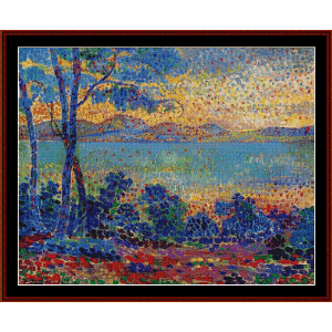 Provence Landscape - Signac cross stitch pattern by Cross Stitch Collectibles | Crafting | Cross-Stitch | Wall Hangings