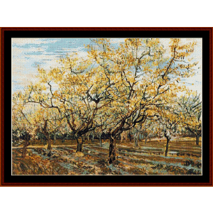 Blossoming Orchard - Van Gogh cross stitch pattern by Cross Stitch Collectibles | Crafting | Cross-Stitch | Wall Hangings