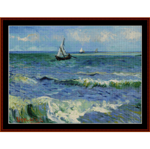 Seascape near Les St-Maries de la Mer - Van Gogh cross stitch pattern by Cross Stitch Collectibles | Crafting | Cross-Stitch | Wall Hangings