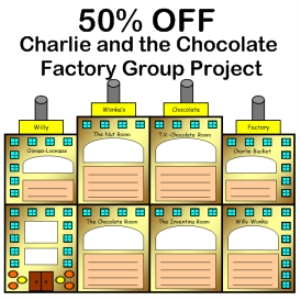 50% off charlie and the chocolate factory group project