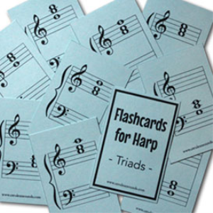 harp flashcards - triads