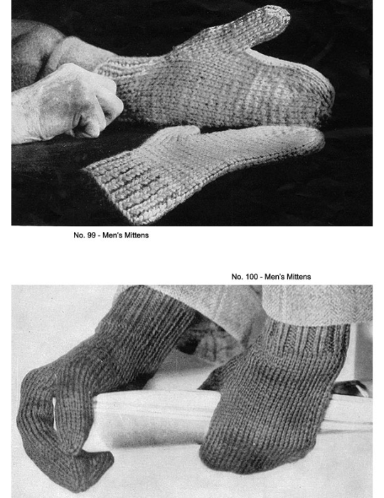 Second Additional product image for - Two Needle Mittens | Volume 91 | Doreen Knitting Books DIGITALLY RESTORED PDF