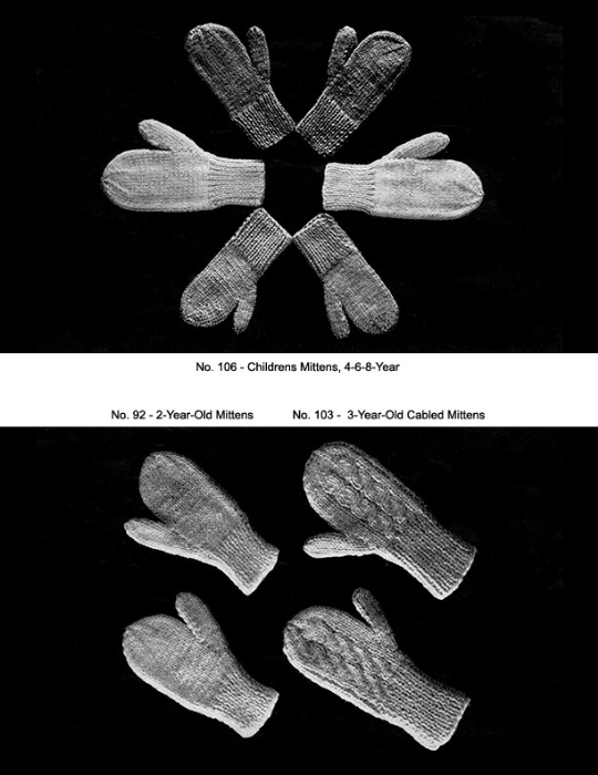 Fourth Additional product image for - Two Needle Mittens | Volume 91 | Doreen Knitting Books DIGITALLY RESTORED PDF