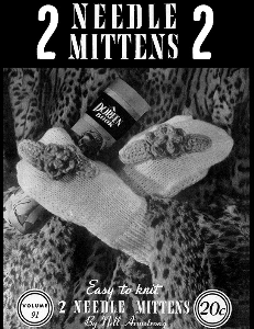Two Needle Mittens | Volume 91 | Doreen Knitting Books DIGITALLY RESTORED PDF | Crafting | Knitting | Other