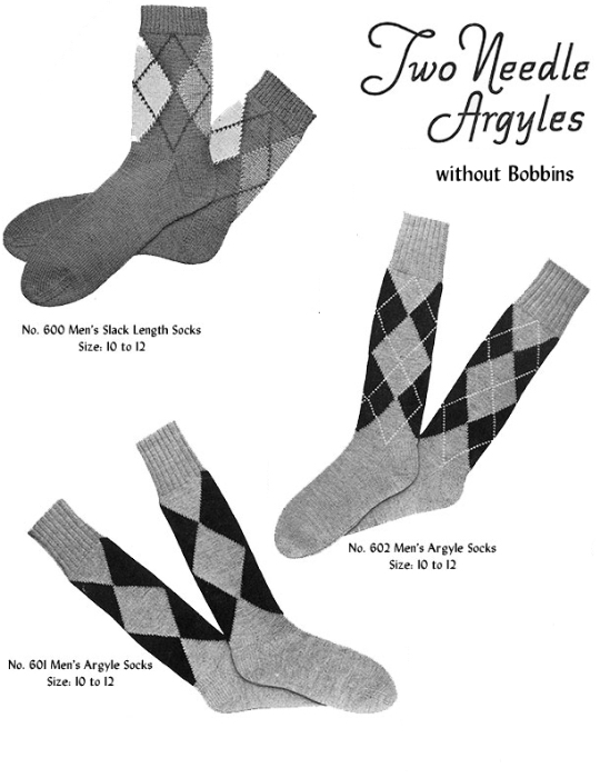 First Additional product image for - Two Needle Argyles   Volume 96   Doreen Knitting Books DIGITALLY RESTORED PDF