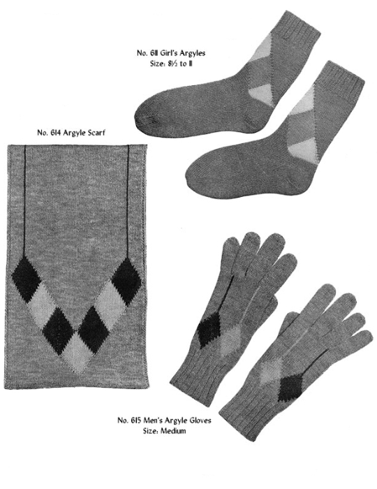 Second Additional product image for - Two Needle Argyles | Volume 96 | Doreen Knitting Books DIGITALLY RESTORED PDF