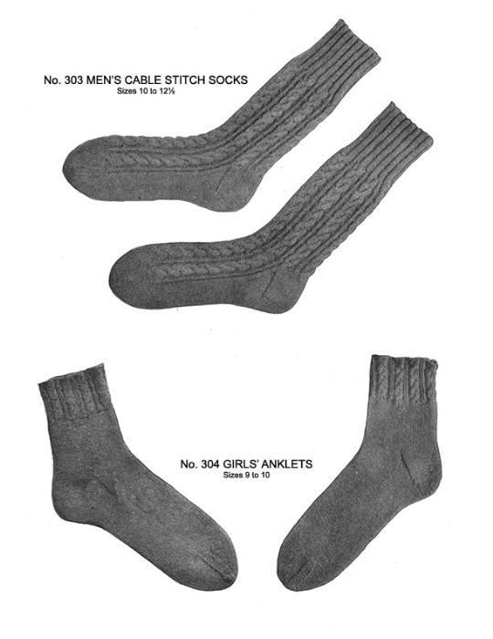 Third Additional product image for - Two Needle Socks | Volume 93 | Doreen Knitting Books DIGITALLY RESTORED PDF
