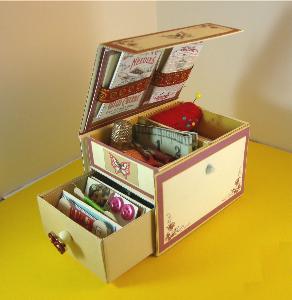 sewing kit match box
